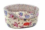 Лежак для кошек, для собак Родные места Премиум №1 Цветочные мышки 43х38х15 см