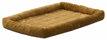 Лежак для кошек, для собак Midwest QuietTime Faux Fur Deluxe Bolster 91х58х8 см