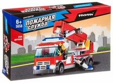Конструктор BONDIBON Пожарная служба ВВ3658 Пожарная машина