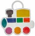 Луч Краски акварельные фигурные Кроха Паровозик 9 цветов (11С683-08)