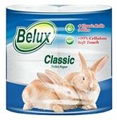 Туалетная бумага Belux Classic белая трехслойная