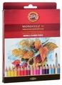 KOH-I-NOOR Акварельные карандаши Mondeluz, 36 цветов (3719036001KZ)