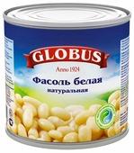 Фасоль Globus белая натуральная, жестяная банка 400 г