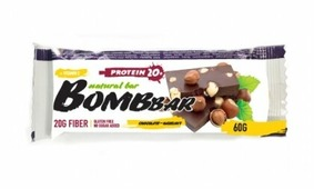 Протеиновый батончик Bombbar Шоколад-фундук 60 г