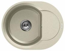 Врезная кухонная мойка elleci Easy Round 600 granitek 60х47см искусственный гранит