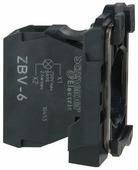 Светосигнальный блок с ламподержателем для устройств управления и сигнализации Schneider Electric ZBV6