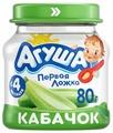 Пюре Агуша кабачок (с 4 месяцев) 80 г, 1 шт.