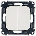 Выключатель 2х1-полюсный Legrand Valena Allure 752705,10А, белый