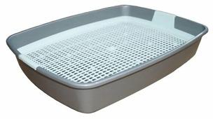 Туалет-лоток для кошек Сибирская кошка Мяус с сеткой 40х30х7 см