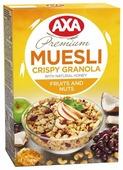 Мюсли AXA хрустящие в меду с фруктами и орехами, коробка