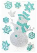 Наклейка интерьерная Winter Wings панно Снеговик, 30 см, N09223