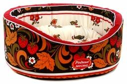 Лежак для кошек, для собак Родные места Премиум №1 Хохлома 43х38х15 см