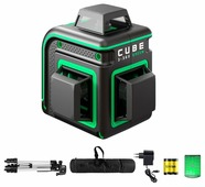 Лазерный уровень ADA instruments CUBE 3-360 GREEN PROFESSIONAL EDITION (А00573) со штативом