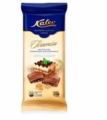Шоколад Kalev молочный со вкусом итальянского десерта тирамису и кусочками печенья 30%