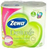 Туалетная бумага Zewa Deluxe. Ромашка