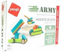 Магнитный конструктор Pengo Magnetic Blocks P00619 Army