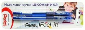 Pentel Набор шариковых ручек Feel it! 0.7 мм, в упаковке 2 штуки (XBX487)