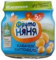 Пюре ФрутоНяня из кабачков и картофеля (с 5 месяцев) 80 г, 1 шт