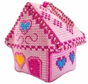 ZENGANA Набор для вышивания бисером и нитками Мармеладный домик 8 х 6 см (М-063)