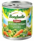 Зеленый горошек Bonduelle Expert с молодой морковью, жестяная банка 200 г