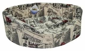Лежак для кошек, для собак Бобровый Дворик с бортиком Город №1 42х35х16 см
