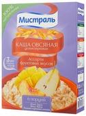 Мистраль Каша овсяная цельнозерновая Ассорти фруктовых вкусов, порционная (6 шт.)