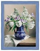 Алмазная живопись Набор алмазной вышивки Белые тюльпаны (АЖ-1503) 30х40 см