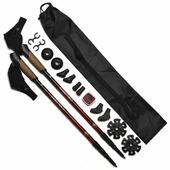 Палка для скандинавской ходьбы 2 шт. MANGO Телескопические алюминиевые в наборе с аксессуарами, чехлом и шагомером