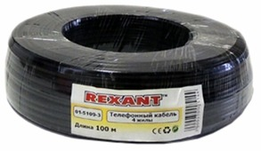 Кабель REXANT ШТЛП-4 Алюминий CCA (100 м)