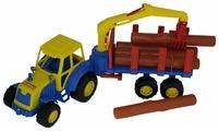 Трактор Полесье Мастер с полуприцепом-лезовозом (35295) 47 см