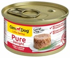 Корм для собак GimDog Pure Delight тунец, говядина с рисом 85г (для мелких пород)
