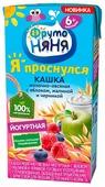 Каша ФрутоНяня молочная овсяная йогуртная с яблоком, малиной и черникой (с 6 месяцев) 200 мл
