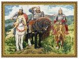 Золотое Руно Набор для вышивания Три богатыря 40,9 х 56,6 см (МК-035)