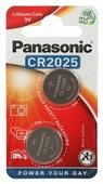 Батарейки Panasonic CR2025 2 шт. [CR-2025EL/2B]