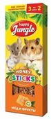Лакомство для грызунов Happy Jungle Honey sticks Мед и фрукты