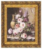 Золотое Руно Набор для вышивания Мраморные розы 34 х 30 см (ГН-003)