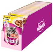 Корм для котят Whiskas с курицей 85 г (кусочки в соусе)