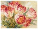 Алиса Набор для вышивания крестиком Тюльпаны 40 х 30 см (2-29)