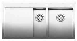 Интегрированная кухонная мойка Blanco Claron 6S-IF/A 100х51см нержавеющая сталь
