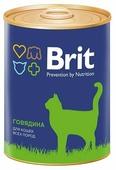 Корм для кошек Brit с говядиной 340 г (паштет)