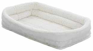 Лежак для кошек, для собак Midwest QuietTime Deluxe Fleece Double Bolster 43х28х10 см