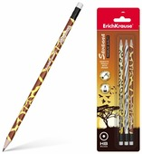 ErichKrause Набор чернографитных круглых карандашей с ластиком Savanna 3 шт (45621)