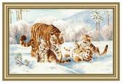 Золотое Руно Набор для вышивания Дружная семья 31,5 х 52 см (ДЖ-042)
