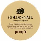 Petitfee Гидрогелевые патчи для век с золотыми частицами и фильтратом муцина улитки Gold & Snail hydrogel eye patch