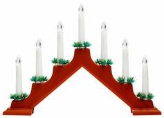 Свеча светодиодная NEON-NIGHT Новогодняя горка 7 свечек 37 см