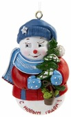 Елочная игрушка Magic Time Снеговик с елкой (77790)