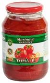 Очищенные томаты в собственном соку Marinova GARDEN'S стеклянная банка 1000 г