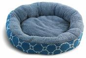 Лежак для кошек, для собак Triol Лазурный берег S круглый 53х53х10 см