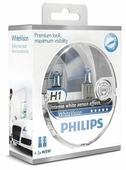 Лампа автомобильная галогенная Philips H1 3700K White Vision 12V 55W 2 шт.