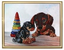 Hobby & Pro Набор для вышивания бисером Два щенка 30 х 23 см (БН-3116)